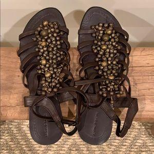 Antik Batik jeweled sandals